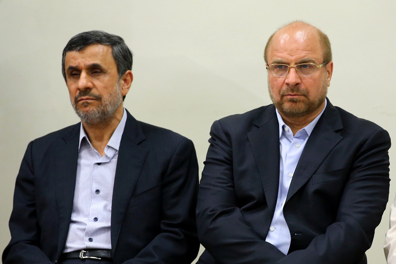 محمود احمدی نژاد و محمد باقر قالیباف