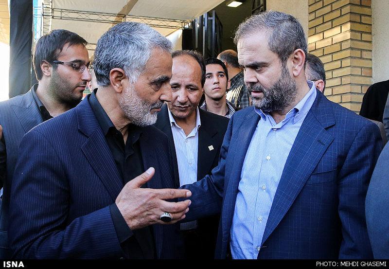 عبدالله صفیالدین، نماینده حزبالله لبنان در ایران در مراسم ترحیم مادر قاسم سلیمانی
