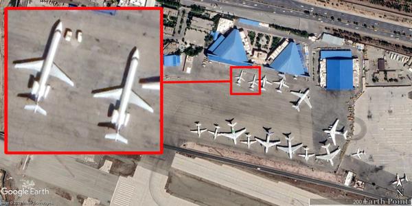 عکس ماهواره ای تهیه شده توسط شرکت ماکسار تکنلوژی (Maxar Technologies) دو فروند امبرائر 145 اِل آر تازه تحویلی نیروی هوافضای سپاه را در رمپ پایگاه هوایی قدر در تاریخ 10 اردیبهشت 1400 نشان میدهد. هواپیماهای اطراف آنها آنتونف 74 ها و ایلیوشین 76تی دی های گرد